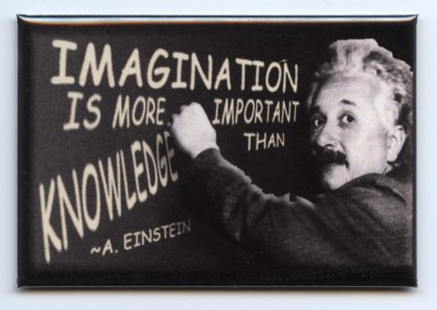 Einstein's Quote: Imagination is More Important than Knowledge.