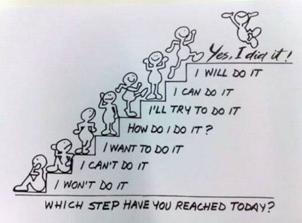 Which funny step you reached today?