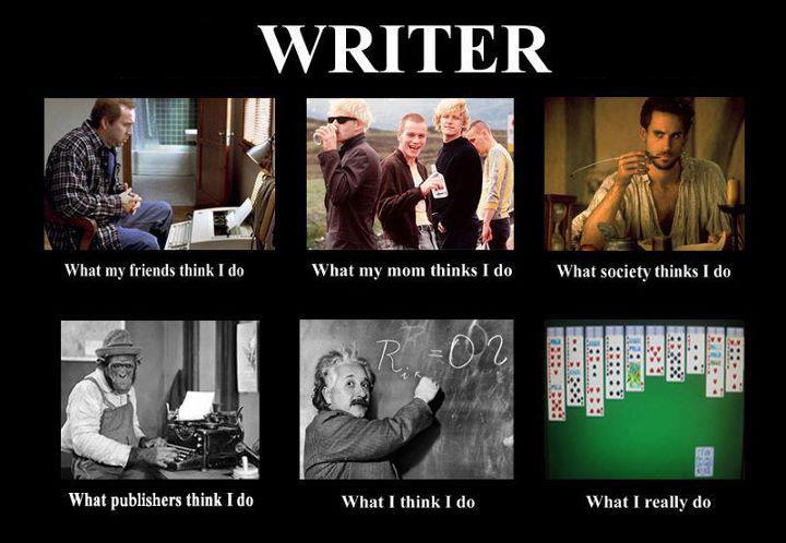 What writers really do - funny pic