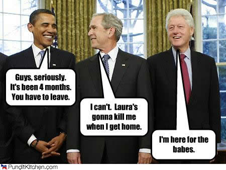 Politically Incorrect Jokes About Bush, Obama, and Clinton