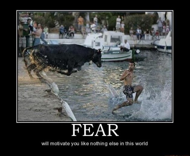 "Funny Picture of the Day: ""Fear will motivate you like nothing else in this world."""