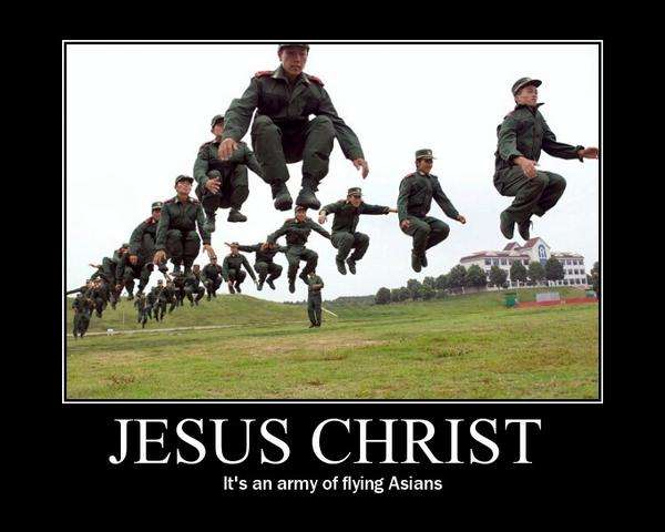 """Random Funny Pictures: """"Army of Flying Asians!"""""""