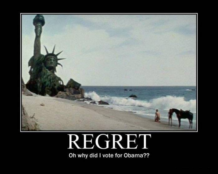 Regret! Why did I vote for Obama?!