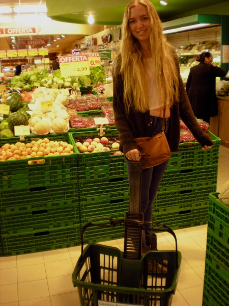 Blonde Girl in Grocery Store