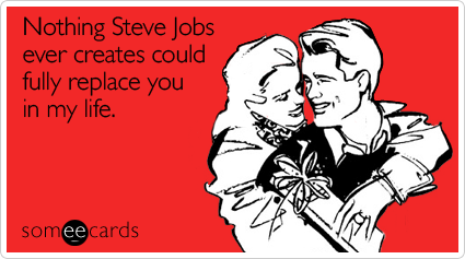Funny Valentine's Day Card 3 - Steve Jobs
