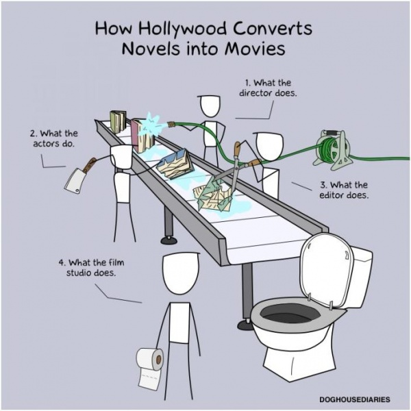What Hollywood Does: Turns Novels Into Shit