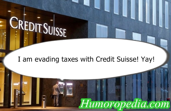 Evading Taxes with Credit Suisse - Funny Spoof