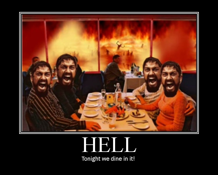 Meditation + Dinner in Hell - Funny Picture