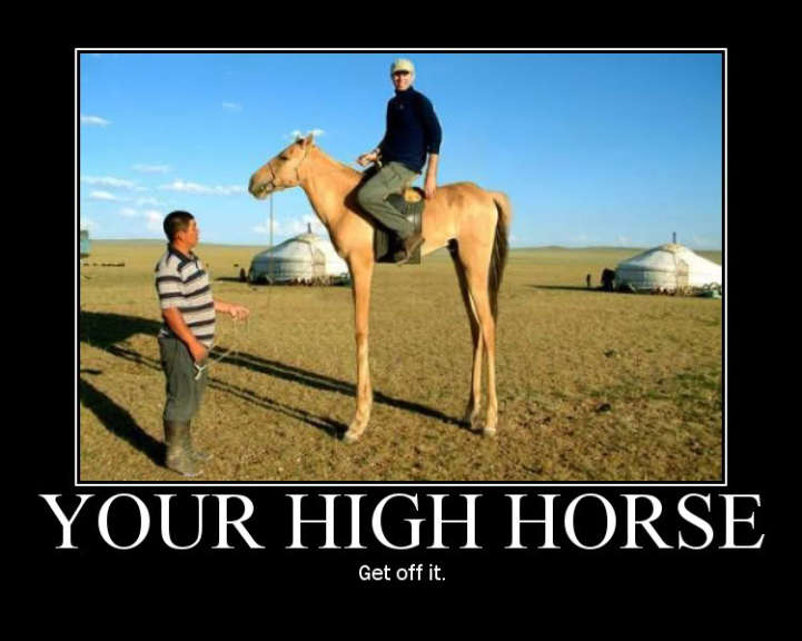 Your High Horse - Get Off It