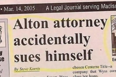 Satirical News: Attorney Sues Himself