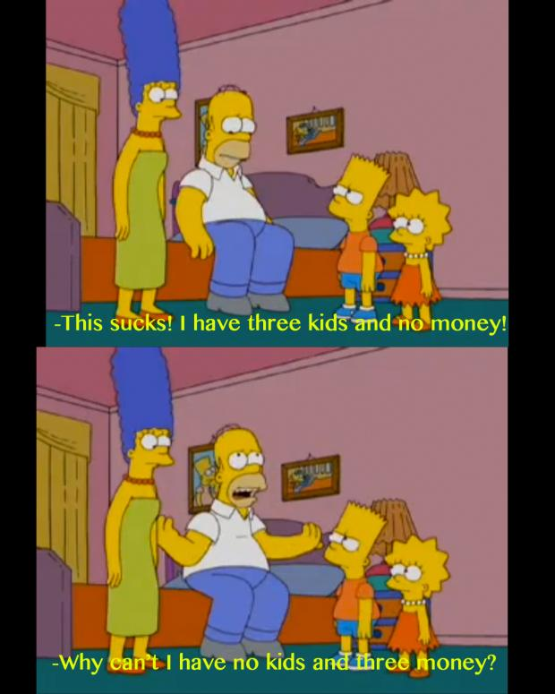 three-kids-no-money-simpsons-moments