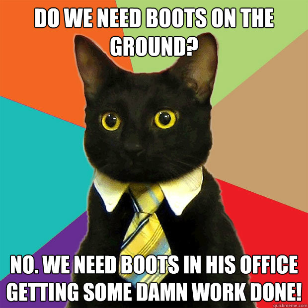 Obama: 'No Boots On the Ground. Only Classy Dress Shoes'
