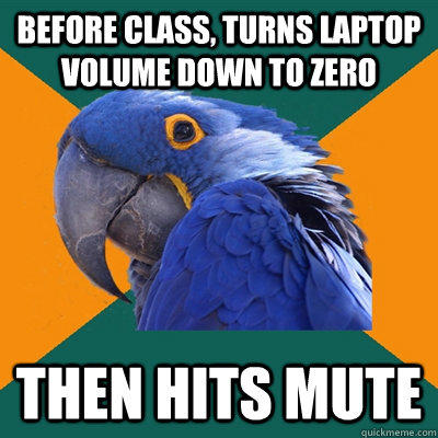Funny Pictures of Paranoid Parrot - Mute Button