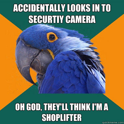 Paranoid Parrot About Security Camera - Funny Pictures