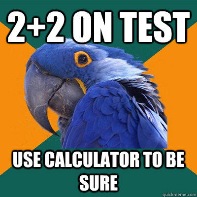 Paranoid Parrot Funny Pictures About Test