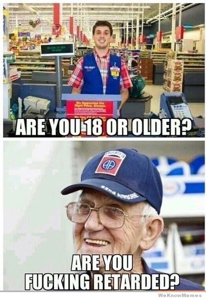 Walmart Customer jokes about Age Difference