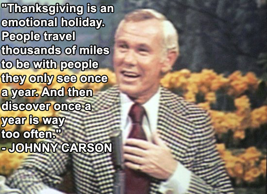 Thanksgiving Day Jokes by Johnny Carson