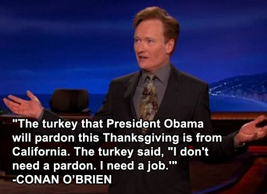 Thanksgiving Day Jokes by Conan O'Brien