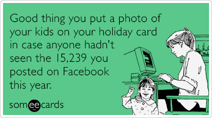 funny Christmas quotes about Facebook
