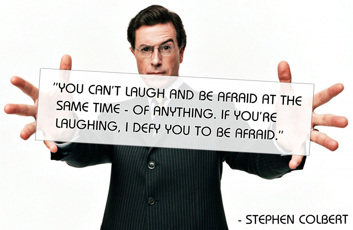 Stephen Colbert Quotes About Laughing