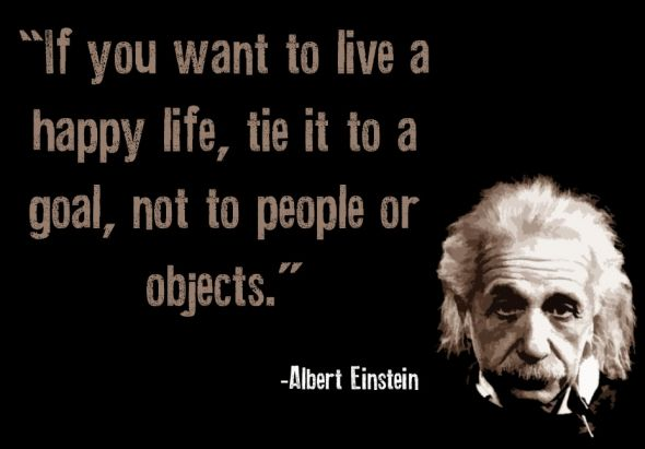 Famous Albert Einstein Quotes About Happy Life
