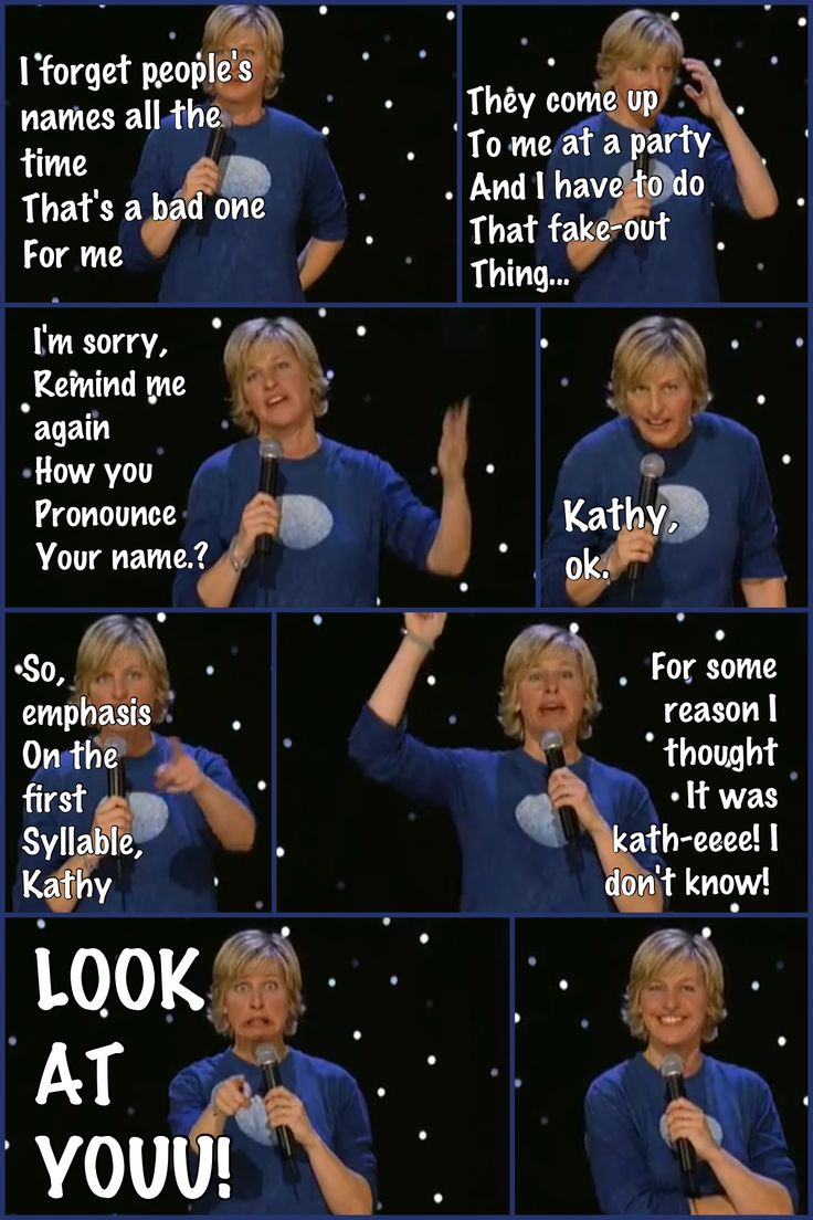 Funny Ellen DeGeneres Quotes About Forgetting Names