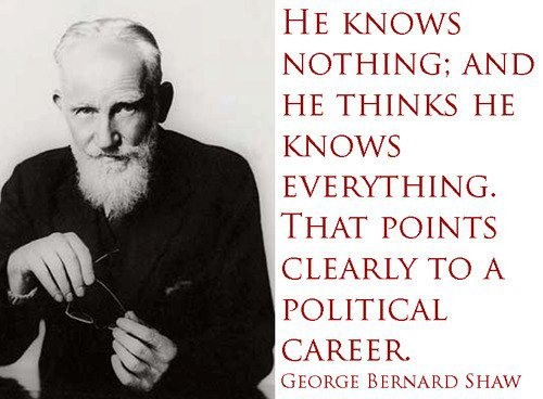 George Bernard Shaw Quotes About Politicians