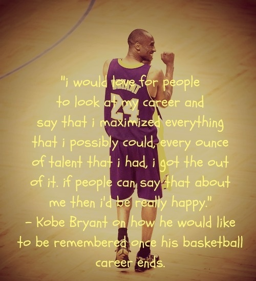 Kobe Bryant Quotes About His Career