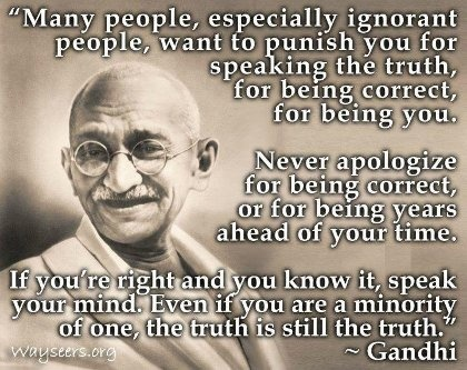 Mahatma Gandhi Quotes About Speaking The Truth