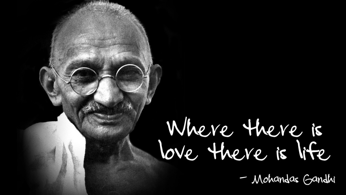 Mahatma Gandhi Quotes About Love