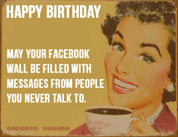 funny birthday wishes for your Facebook wall