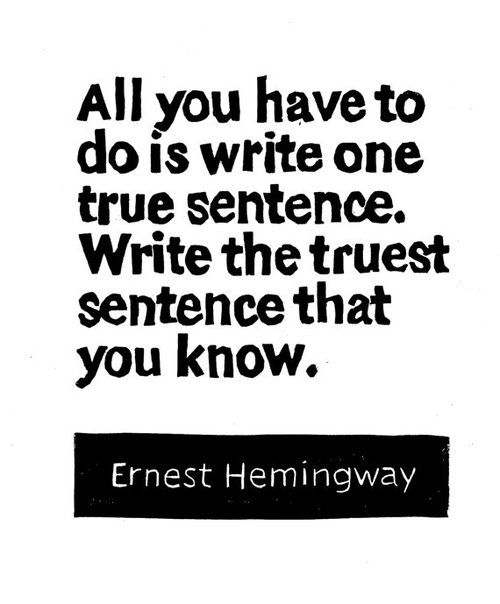 Ernest Hemingway Quotes about writing