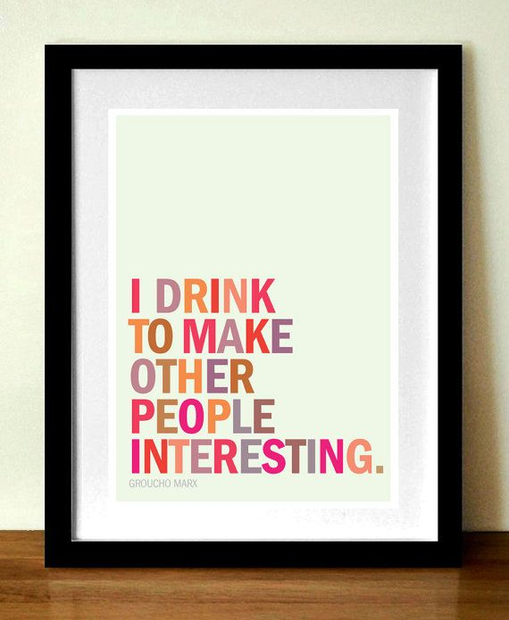 Groucho Marx Quote About Drinking