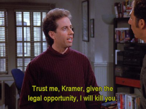 Funny Jerry Seinfeld Quotes About Killing Kramer