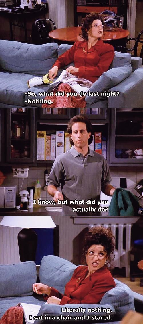 Funny Jerry Seinfeld Quotes About Doing Nothing
