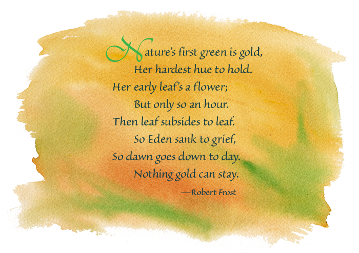 an assessment of nothing gold can stay by robert frost