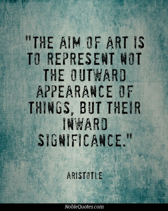 famous Aristotle quotes on art