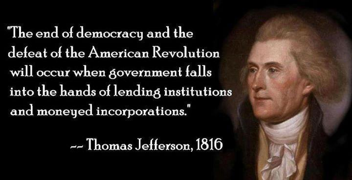 Thomas Jefferson Quotes On Banks And Democracy