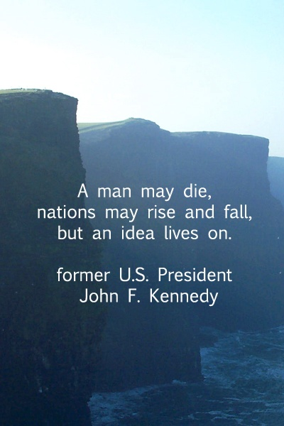 famous JFK quotes about the power of idea