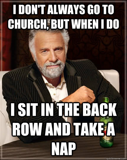 Nap In A Church - Funny Meme