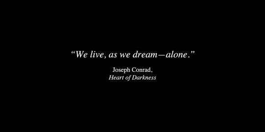 Heart of Darkness Quotes about living and dreaming