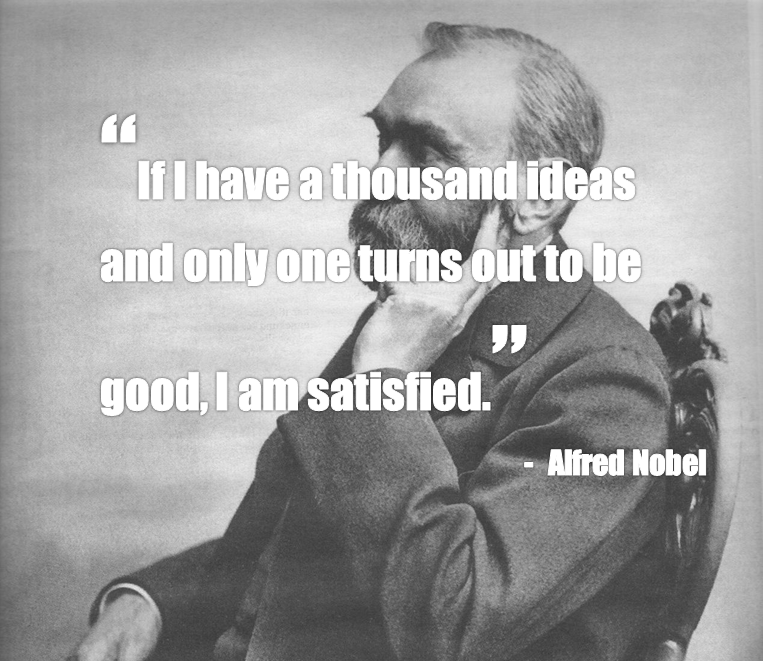 Alfred Nobel Quote About Ideas
