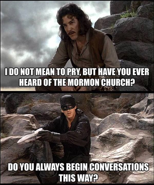 Joke about Mormon church missionary