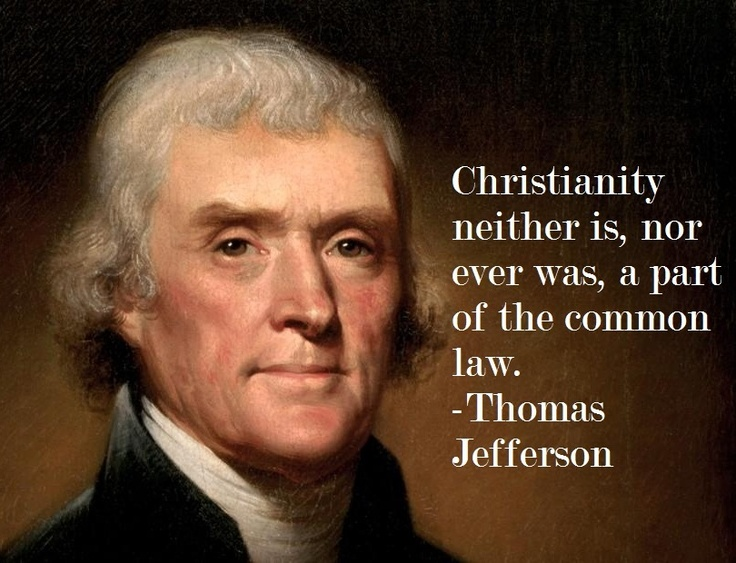 Thomas Jefferson quote about religion