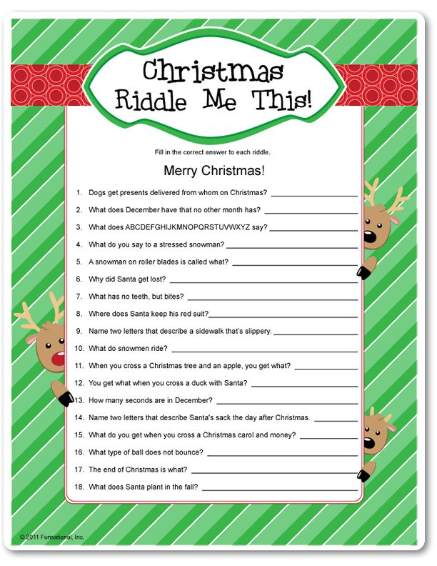 graphic regarding Printable Riddles for Kids named 33 Most straightforward Xmas Riddles For Children - Humoropedia