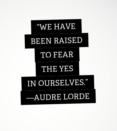 Audre Lorde Quotes about fear
