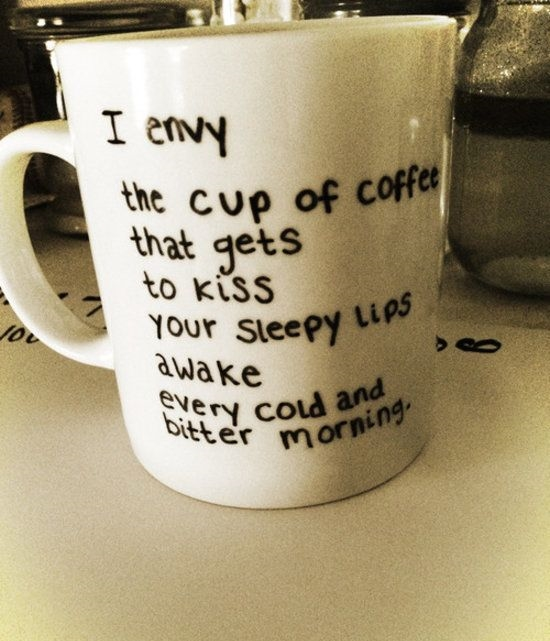 funny quotes about love written on coffee cup