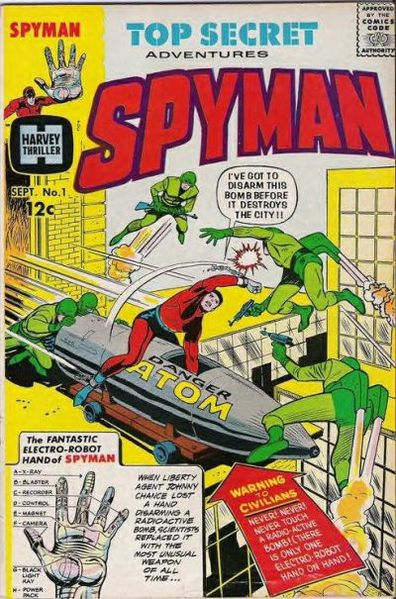 Spyman - Steranko's first published comic