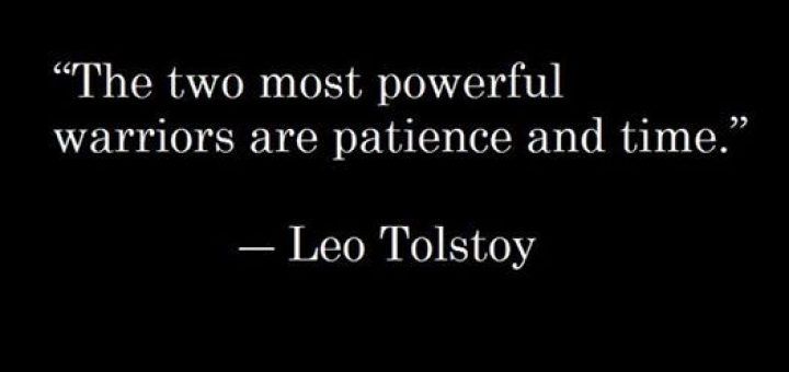 War and Peace quotes about patience and time