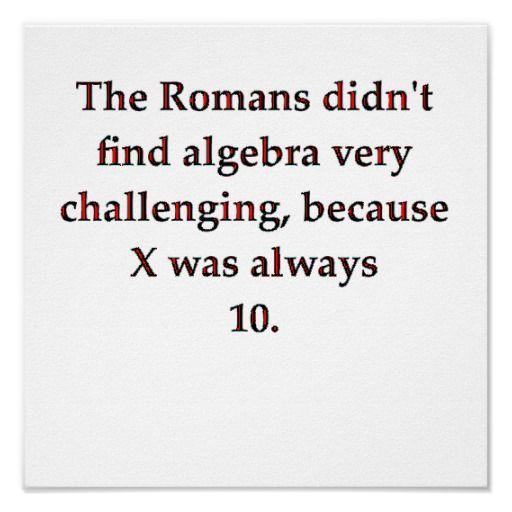 Algebra Jokes About Romans